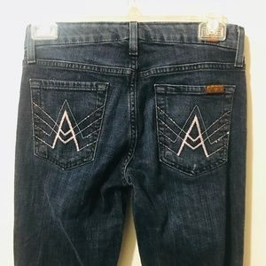 """7 For All Mankind """"A"""" Pocket Flare Size 24 #590"""